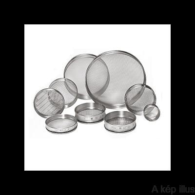 LABORSZITA rozsdamentes ISO 3310/1, lyuk átmérő: 0,180 mm, szita átmérő: 200 mm
